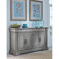 Traditional Gray Dining Room Sideboard - Madison Ridge
