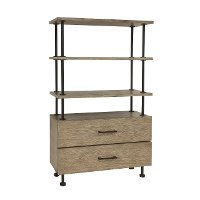 Industrial Pipe Style Book Shelf with Drawers - Modern Eclectic