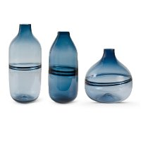 10 Inch Persian Blue Glass Vase