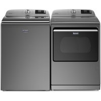 KIT Maytag Electric Laundry Pair with Top Load Washer - Slate