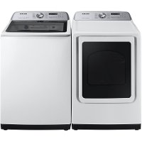 KIT Samsung Top Load Washer and Dryer Pair - White 5400