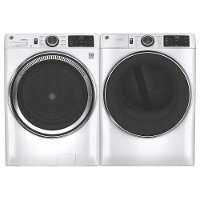 KIT GE Electric Laundry Pair with Steam Washer - White