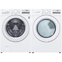 KIT LG White Electric Laundry Pair - 3400 Series