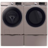 KIT Samsung High-Efficiency Laundry Pair - Champagne Electric