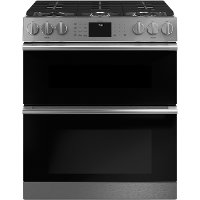 CGS750M2NS5 Cafe 30 Inch Double Oven Smart Gas Range with Convection - Platinum Glass/Stainless Steel