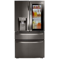 LRMVS3006D LG 36 Inch French Door in Door Smart Refrigerator with Craft Ice and InstaView- 29.5 cu. ft., Black Stainless Steel