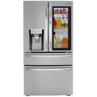 LRMVC2306S LG 36 Inch French Door in Door Smart Refrigerator with Craft Ice and InstaView - Counter Depth, 22.5 cu. ft., Stainless Steel