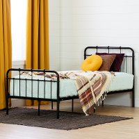 12897 Industrial Black Twin Metal Platform Bed - Versa