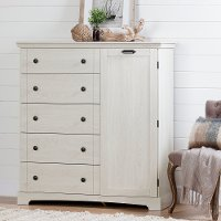 12756 Winter Oak White Door Chest with Drawers - Lilak