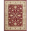 SNS4720-5X8 5 x 7 Medium Oriental Deep Red and Beige Area Rug - Sensation