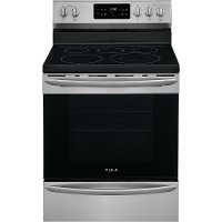 GCRE3038AF Frigidaire Gallery 30 Inch Electric Convection Range - 5.7 cu. ft. Black Stainless Steel