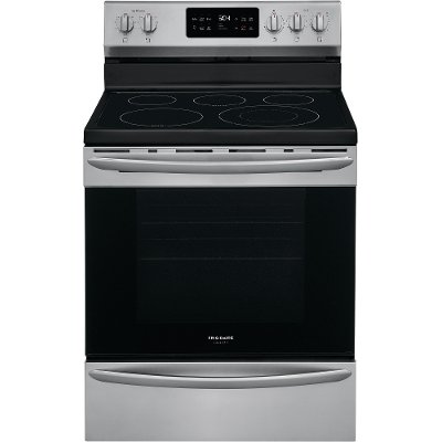 GCRE3038AF Frigidaire Gallery 30 Inch Electric Convection Range - 5.7 cu. ft. Fingerprint Resistant Stainless Steel