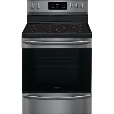 GCRE3038AD Frigidaire Gallery 30 Inch Electric Convection Range - 5.7 cu. ft. Black Stainless Steel