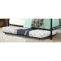 Contemporary Black Metal Twin Trundle - Opal