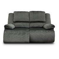 Charcoal Gray Reclining Love Seat - Clonmel