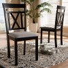 149-8960-RCW Contemporary Espresso Brown and Gray Upholstered Dining Room Chair (Set of 2) - Myrtie