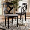 149-8962-RCW Contemporary Dark Brown Upholstered Dining Room Chair (Set of 2) - Maurice