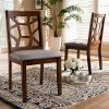 149-8963-RCW Mid Century Walnut Brown Upholstered Dining Room Chair (Set of 2) - Abilene