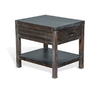 Rustic Black End Table - Dundee