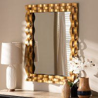 Contemporary Gold Rectangular Accent Wall Mirror Corbin Rc Willey Furniture Store