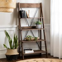 68  Solid Wood Ladder Bookshelf - Brown