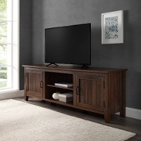 70  Modern Farmhouse Wood TV Stand - Essential
