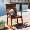 Solid Acacia Wood Outdoor Patio Rocking Chair - Midland