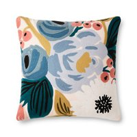 Blush Pink and Multi Color Floral Throw Pillow
