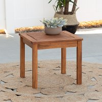 OWSSTBR Brown Patio Wood Side Table - Midland