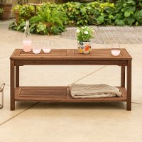 Dark Brown Patio Coffee Table - Midland