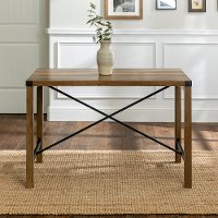 Rustic Brown Dining Room Table - Metal X