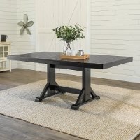 Farmhouse Black Dining Room Table - Millwright Classic