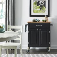 Black Rolling Kitchen Cart - Dolly Madison