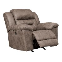 Fossil Brown Casual Recliner - Stoneland