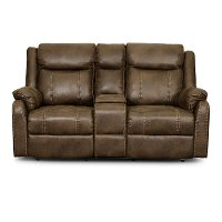 Valor Taupe Reclining Loveseat - Domino