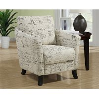 Contemporary Beige Vintage French Accent Chair