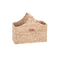 Magnolia Home Furniture Seagrass and Water Hyacinth Basket with Handle