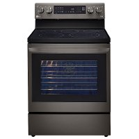 LREL6325D LG 30 Inch Smart Electric Oven Range with InstaView Window - 6.3 cu. ft., Black Stainless Steel