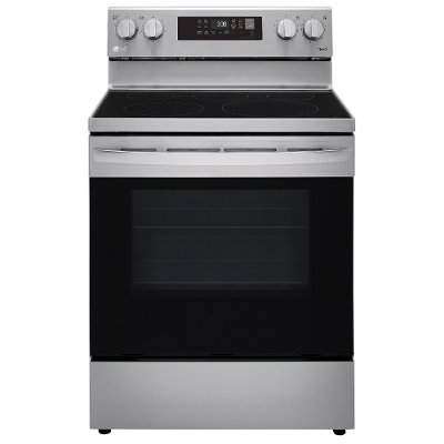 LREL6323S LG 30 Inch Electric Smart Convection Range with Air Fry - 6.3 cu. ft., Stainless Steel