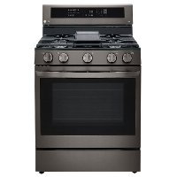 LRGL5825D LG Gas InstaView Range with Air Fry - Black Stainless Steel