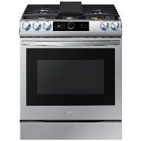 NX60T8711SS Samsung 30 Inch Slide In Gas Range with SmartDial and Air Fry - 6 cu. ft. Fingerprint Resistant Stainless Steel