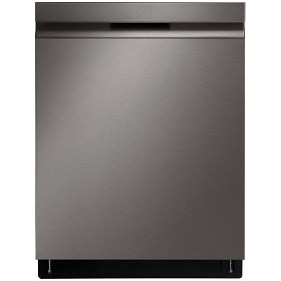 LDP6810BD LG Top Control Smart Dishwasher with QuadWash and TrueSteam - 24 Inch Black Stainless Steel
