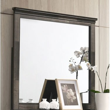 Rustic Contemporary Brown Mirror - Carter