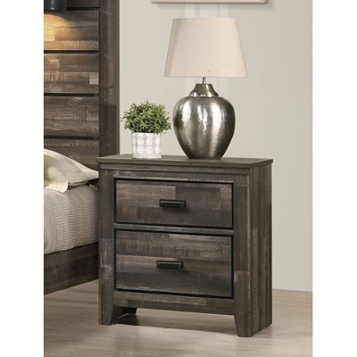 Rustic Contemporary Brown Nightstand - Carter