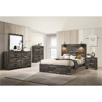 Rustic Brown 4 Piece King Bedroom Set - Carter