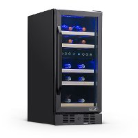 NWC029BS00 NewAir 29 Bottle Dual Zone Wine Fridge - Black Stainless Steel