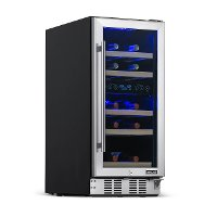 NWC029SS01 NewAir Dual Zone 29 Bottle Wine Fridge - Stainless Steel