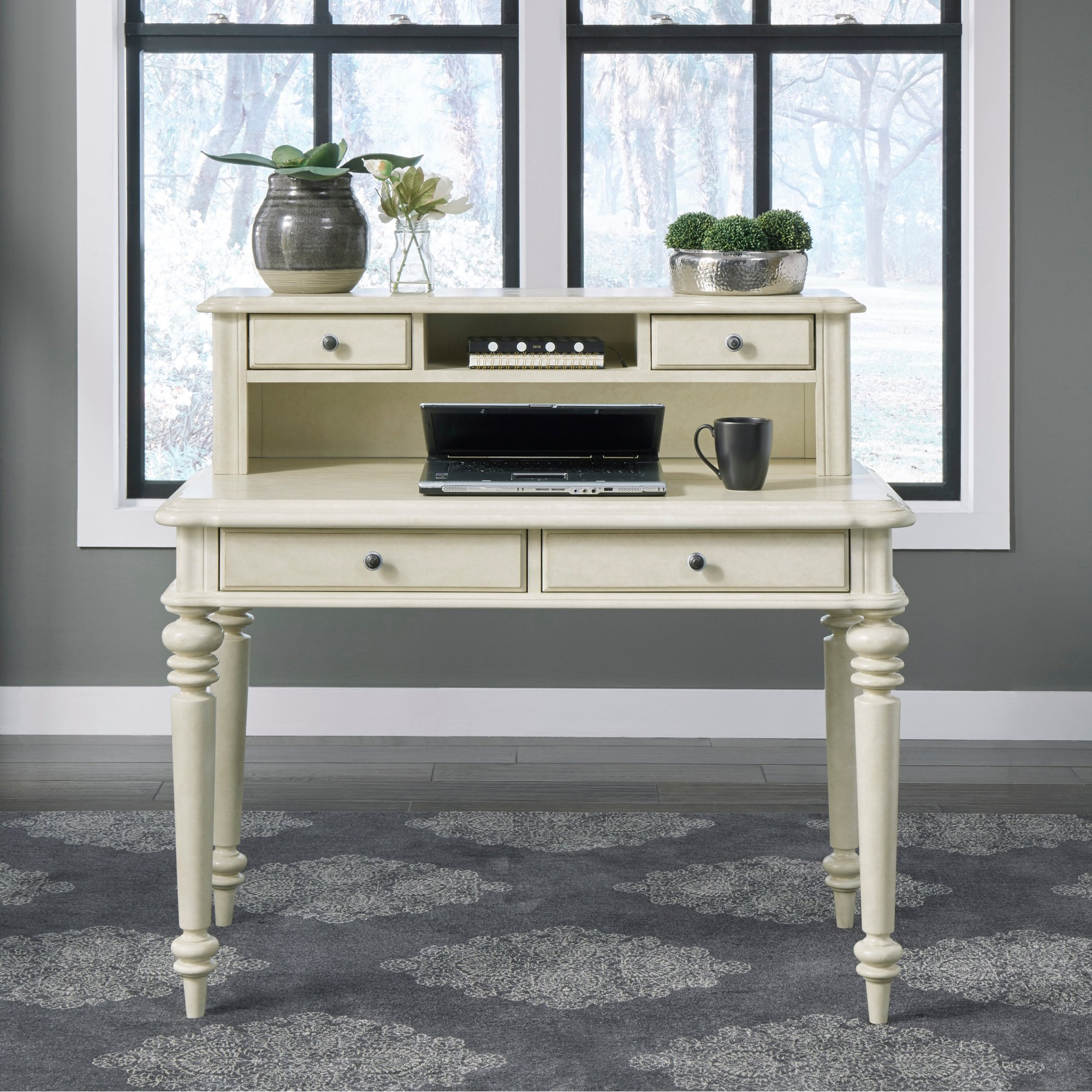Home Styles Antique White Student Desk - Provence from R.C. Willey