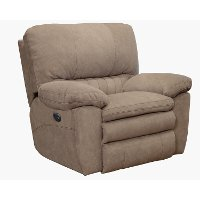 Portabella Beige Power Lay Flat Recliner - Reyes