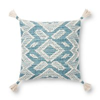 Magnolia Home Furniture Blue and Off White Throw Pillow